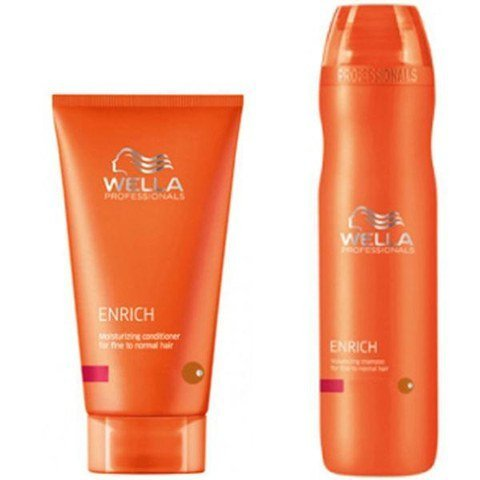 Wella Professional Enrich Shampoo and Conditioner Duo for Fine Hair 10.1oz/8.4oz