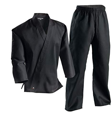 Century Martial Arts Middleweight Student Uniform with Elastic Pant - Black, 6 - Adult X-Large