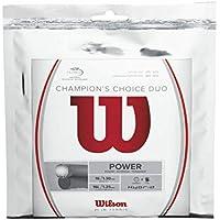 WILSON Duo Champions Choice Cordaje de Tenis, Color Beige