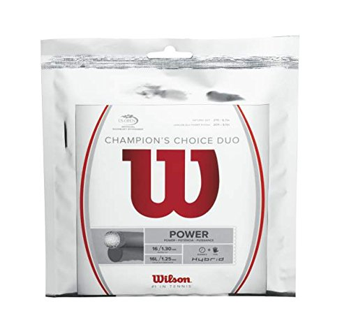 Hybrid Tennis String - Wilson Champions Choice Duo Tennis String, Natural
