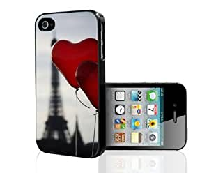 Red Heart Balloons Hard Snap on Case (iPhone 4/4s) by icecream design