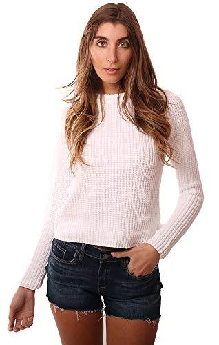 525 America Sweaters Crew Neck White Comfy Raglan Pullover Sweater - White - XS ()