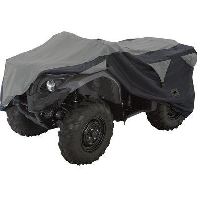 Atv Enclosure Cabin Black (Classic Accessories QuadGear ATV Deluxe Storage Cover, Large, Black/Grey)