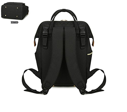 BigForest Multifunction Maternity Mummy Backpack Travel Tote Bag Baby Diaper Nappy Changing Handbag Black 2