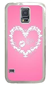 Samsung Galaxy S5 original cover Pink Background Love PC Transparent Custom Samsung Galaxy S5 Case Cover