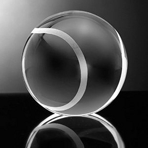 Waltz&F 40mm Clear Crystal Tennis Ball Paperweight with Base Stand Crystal Collectible Figurines Approx 1.57
