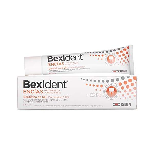 Isdin Bexident Encías Tratamiento Coadyuvante Dentífrico en Gel, Clorhexidina 0,12% , Gingivitis y Periodontits 1 x 75 ml 2