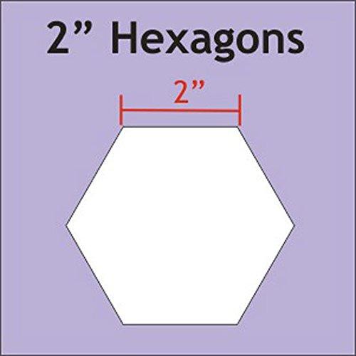 Paper Pieces 2 Hexagon Templates Set of 25