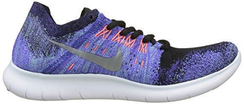Metallic Nike 2017 Flyknit Running Shoe Black RN 7 Women's Women Silver Free US InfqRpYwf
