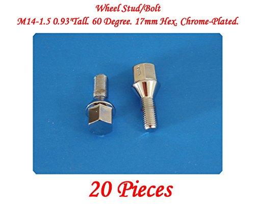 20-pieces-wheel-lug-bolt-m14x15-tall-093-24-mm-60-degree-17mm-hex-chrome-plated-fits-mercedes-benz-e