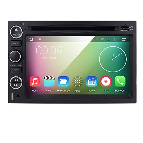 Hizpo Android 5.1 in Dash Car DVD Player for Ford F150 2004 2005 2006 2007 2008 Quad Core 7 Inch Hd Capacitive Screen Fm/Am Radio Stereo GPS BT Dvr/USB/sd/SWC/Back Camera/DTV/OBD2