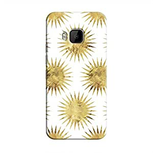 Cover It Up - Gold White Star One M9 Hard Case