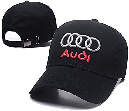 Yoursport Car Logo Embroidered Baseball Cap Men Women Adjustable Hat Travel Cap Fit Audi Accessories Black