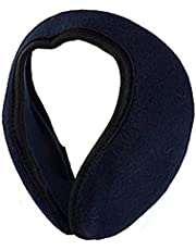 uxcell Cycling Headwear Dark Blue Fleece Ear Warmers Earmuffs