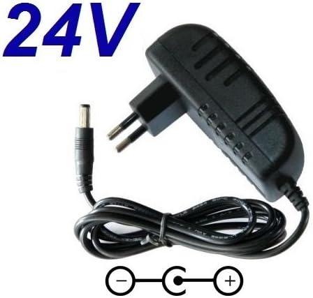 CARGADOR ESP ® Cargador Corriente 24V Reemplazo Aspirador Robot Conga Cecotec 1290 Gryo Model 05145 Recambio Replacement