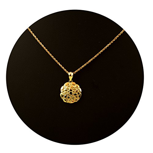 LoveBling 10K Yellow Gold Round Nugget Charm (0.83
