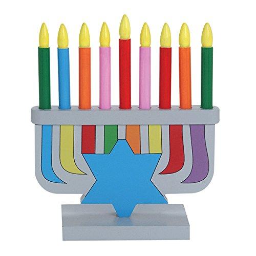 Hanukkah Children's Wooden Chanukah Menorah With Removable (Children Menorah)