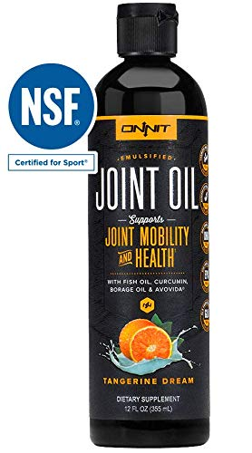 Onnit Joint Oil - Anti-Inflammatory Liquid Fish Oil + Turmeric, Borage Oil & Avocado - Rich in Omega 3s DHA & EPA - Delicious Tangerine Flavor (No Fishy Taste)