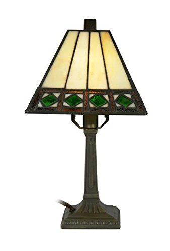 Dale Tiffany Brass Antique Floor Lamp - Springdale by Dale Tiffany STA17184 Bijou Tiffany Accent Lamp