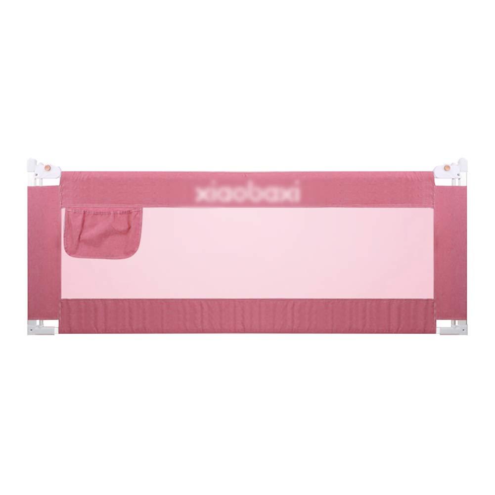 ベッドフェンス 幼児用ベッド安全レール、セーフティ用垂直リフティングベビーベッドレール、子供用ベッドレールフルサイズクイーン&キング (色 : Pink, サイズ さいず : 200cm) 200cm Pink B07L9LX569