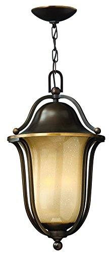Hinkley 2632OB Transitional Three Light Hanging Lantern from Bolla collection in Bronze/Darkfinish,
