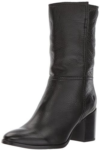 Black Full Nora 7 Mid Soft Pull Women's Boot on Grain 5 US M FRYE gUY8qwx