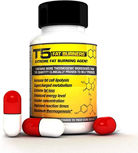 T5 Fat Burners : Scientifically Backed Diet / Weight Loss Pills (1 Month Supply)