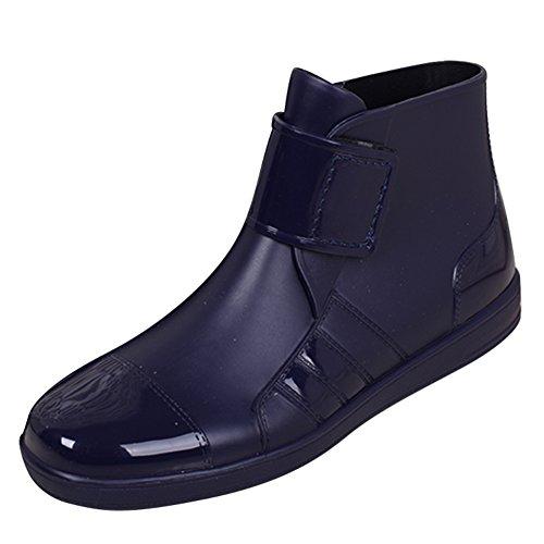 SGoodshoes Gummistiefel Regenstiefel Gummistiefeletten Regen Stiefeletten Wasserdicht Kurze Stiefel Herren Damen Blau