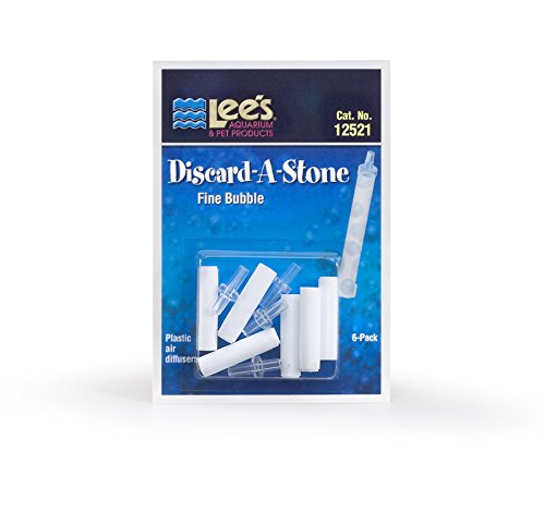Lee's Pet Products ALE12521 6-Pack Discard a Stone Disposable Air Diffuser for Aquarium Pump, Fine from Lee's Pet Products