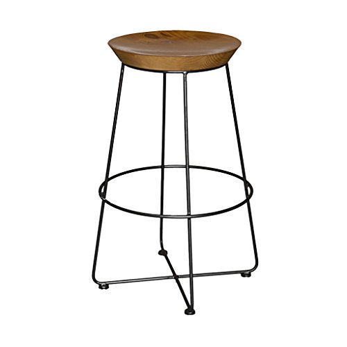 (BDLYZ Yxsd Fashion European Bar Scoop Stool Combination Bar Outdoor Iron Retro Stool Bar Chair High Stool,Durable (Color : 75CM))