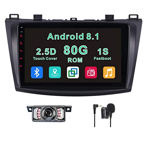 Android 8.1 Car Stereo for Mazda 3 2010,2011,2012,2013,2014,Quad Core 80GB ROM 9
