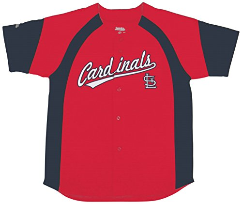 MLB St. Louis Cardinals Youth Fashion Script Jersey, Red, X-Large