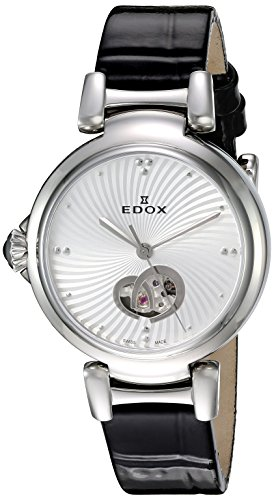 Edox-Womens-85025-3C-AIN-LaPassion-Analog-Display-Swiss-Automatic-Black-Watch