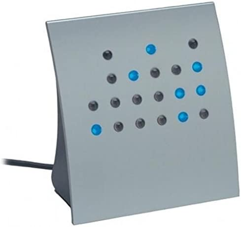 Crystal Blue Powers of 2 BCD Direct Binary Clock Silver w Blue LEDs