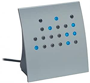 "Crystal Blue ""Powers of 2"" BCD & Direct Binary Clock (Silver w/Blue LEDs)"
