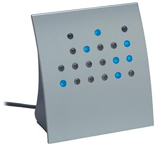 Crystal Blue Powers of 2 BCD & Direct Binary Clock (Silver w/Blue LEDs) Anelace FBA_950-0006