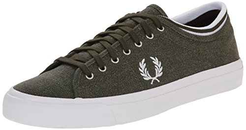Fred Perry Zapatillas Kendrick Tipped Cuff Pigment Dyed Canva Gris EU 42 (UK 8)