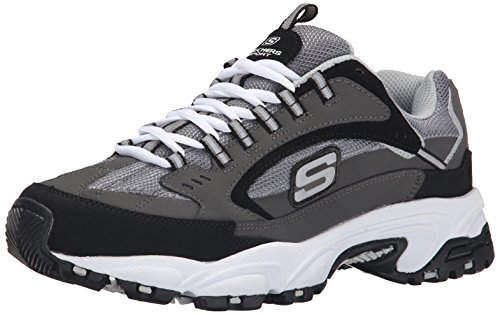 Skechers Sport Men's Stamina  Cutback Lace-Up Sneaker,Charcoal Cutback,12 M US