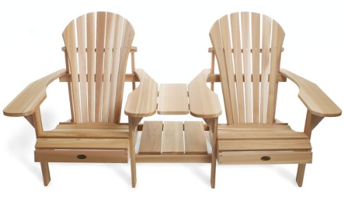 All Things Cedar Adirondack Outdoor Side by Side Tete-A-Tete