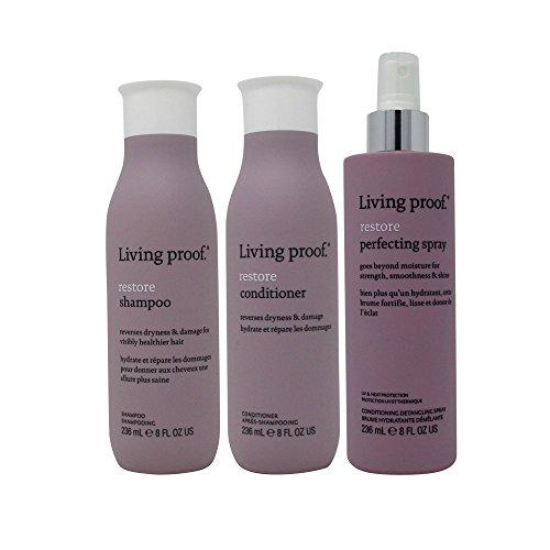 Bundle-3 Items : Living Proof Restore Shampoo, 8 Oz & Condit