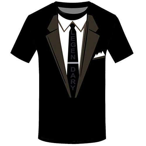Geoffrey Clothing Beene Women (SFE Fashion Shirts,Men Suit Pattern 3D Print Short Sleeve Blouse O-Neck Tee Shirt Tops Blouse Black)