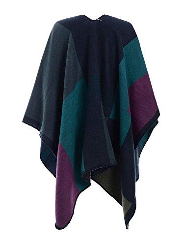 Fazzoletti Outerwear Invernali Stampato di Autunno Asimmetrica Eleganti Marca da Giaccone Vintage Donna Giovane Cardigan Mode Irregular Lila Collo Capa BOLAWOO fwP8xzdqfn