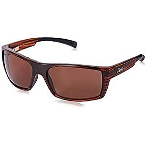 Hobie Men's Baja-191928 Polarized Rectangular Sunglasses, Satin Brown Wood Grain, 64 mm