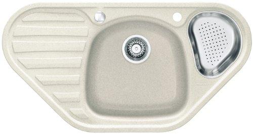 Franke Calypso COG 651-E Glacier Granitspüle Weiß Eck Küchenspüle Einbauspüle