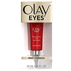 Olay Pro Retinol Eye Cream Treatment for Wrinkles, 0.5 Fl Oz Packaging may Vary