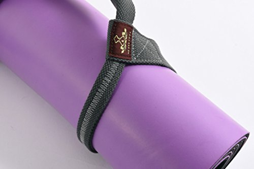 Yoga Mat Strap Sling by Heathyoga, Free Pocket Bag for Phones and keys, 100% Organic Cotton, Adjustable Yoga Strap for All Size Yoga Mats and Excecise Mats.