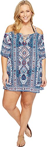 BECCA-ETC-Womens-Plus-Size-Inspired-Medallion-Cold-Shoulder-Chiffon-Tunic-Cover-up-Multi-3X