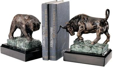 Icons Of Wall Street Iron Bear & Bull Sculpture s home garden statue s (The Digital Angel)
