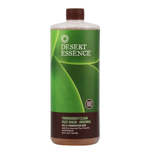 Desert Essence Thoroughly Clean Face Wash Refill, 32-Ounce