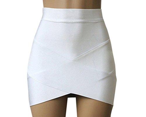 t Femmes Sexy Package Hanche Mini Jupe de Club Mode Pretty Irrgulier Moulante Jupes de Fte Bal Soire Blanc